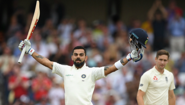 Kohli registered his 23rd Test ton on Monday.