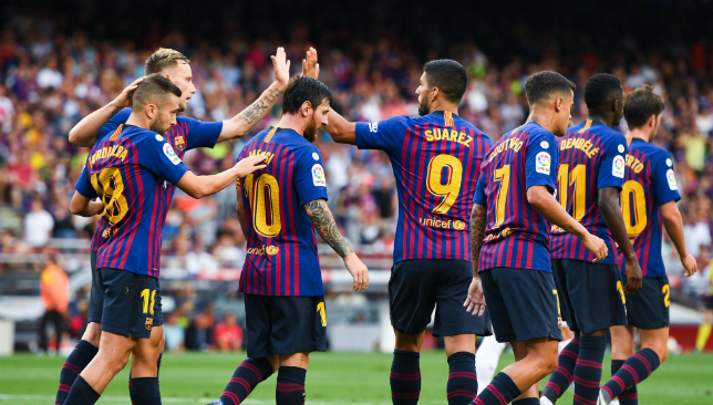 Barcelona won handsomely despite conceding an early goal.