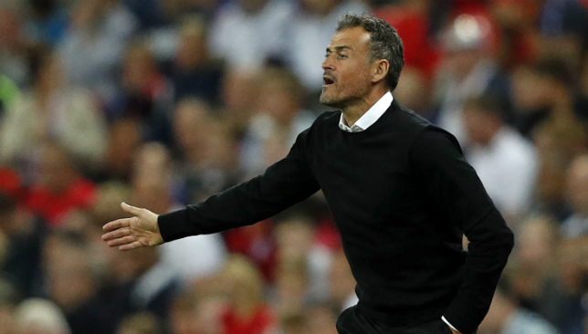 Luis Enrique won his first game in charge of Spain.