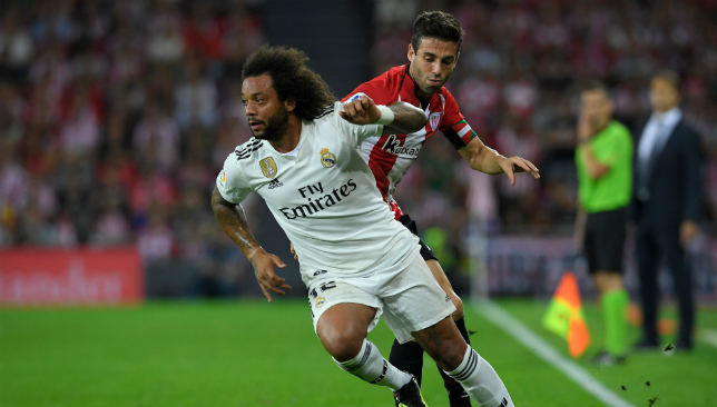 Marcelo will miss the crucial Madrid derby on Saturday.