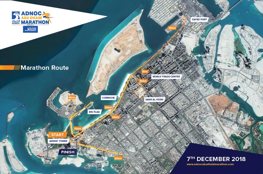 Abu Dhabi Marathon route