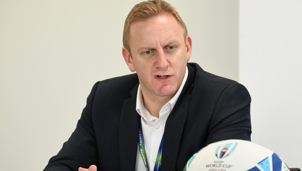 Head of Rugby World Cup Alan Gilpin.