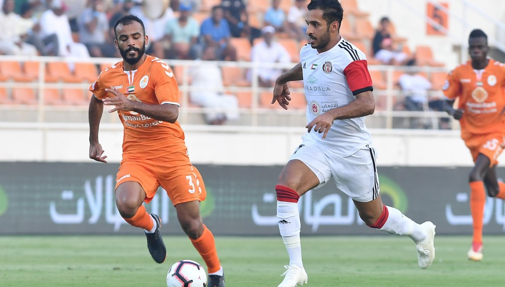 Ali Mabkhout scored his seventh and eighth goals of the season.
