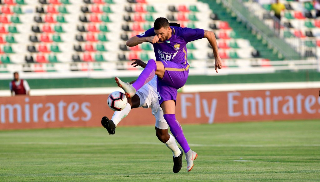 Marcus Berg scored but missed two penalties as Al Ain beat Emirates Club 3-1.