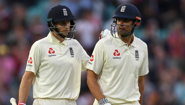 Captain Joe Root and Alastair Cook were unbeaten at stumps on Sunday.