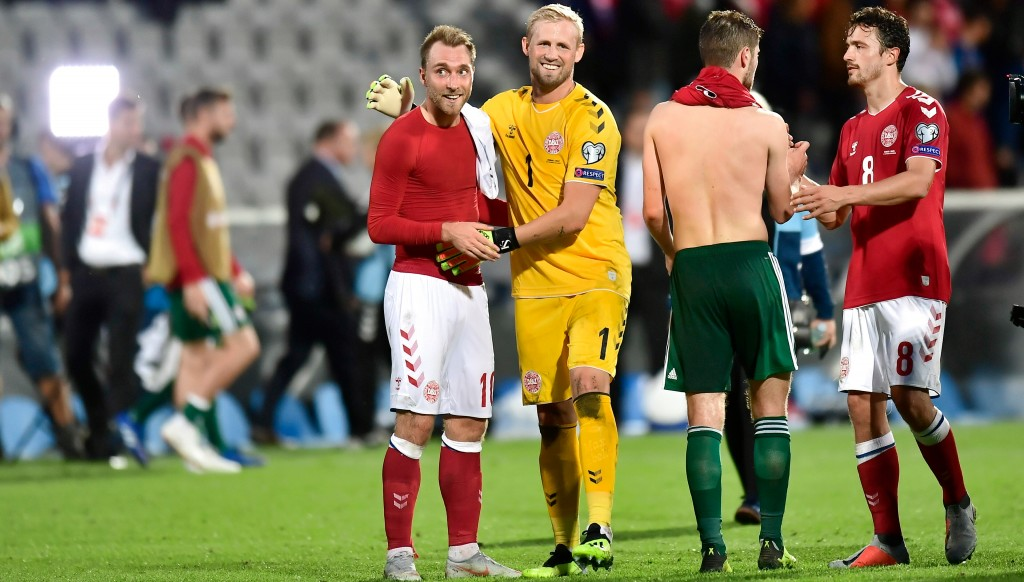 Christian Eriksen and Kasper Schmeichel were back for Denmark.