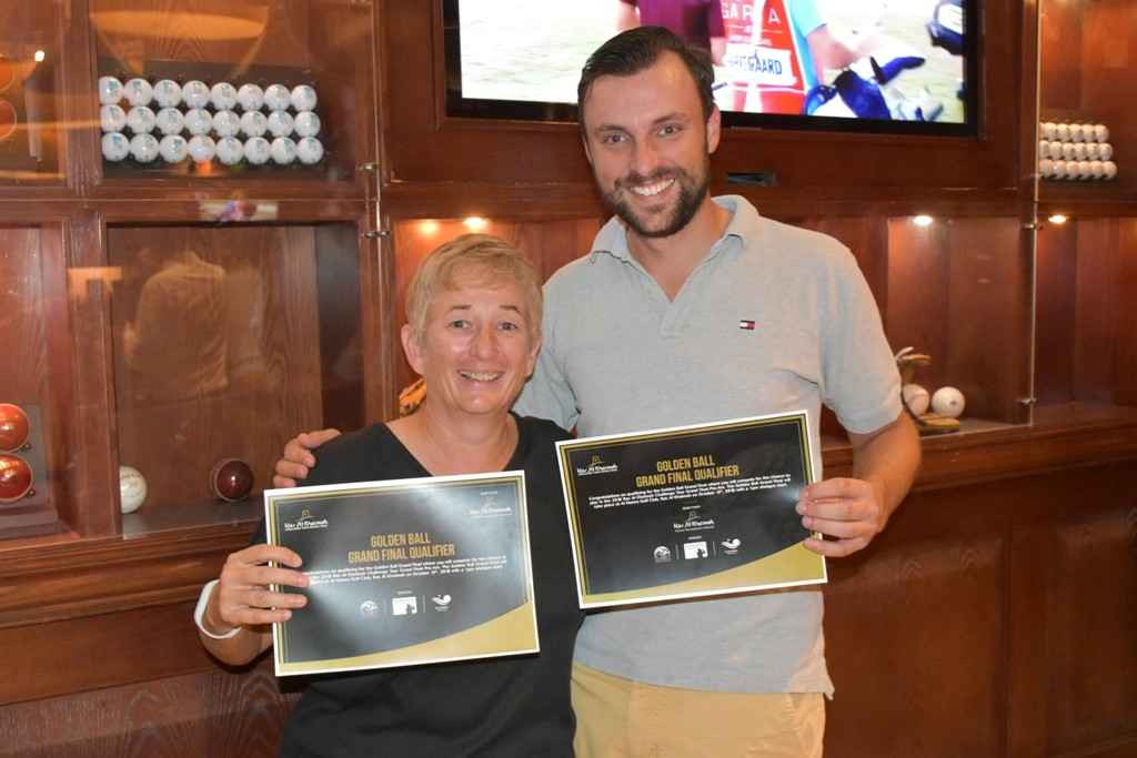 Wouter Verwaal and Elli Oschmann celebrate becoming the first two qualifiers through to the Golden Ball grand final.