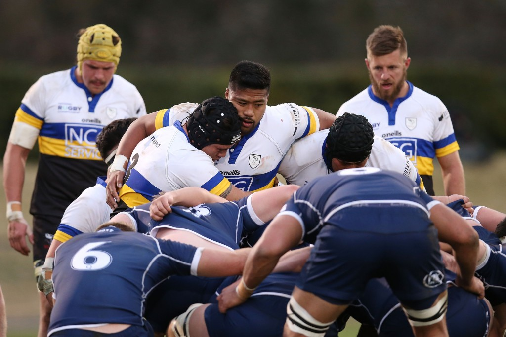 Fainga'a packing down for the Canberra Vikings against Queensland Country in the NRC