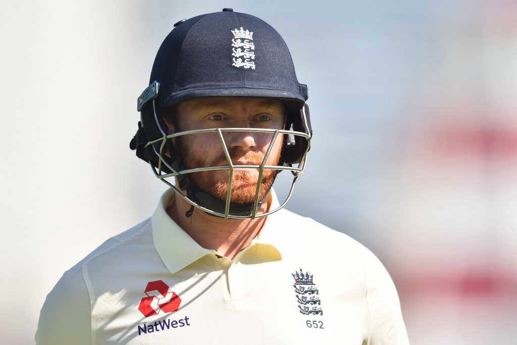 England's Jonny Bairstow walks back to the pavilion after losing his wicket, during play on the third day of the fourth Test cricket match between England and India at the Ageas Bowl in Southampton, south-west England on September 1, 2018. (Photo by Glyn KIRK / AFP) / RESTRICTED TO EDITORIAL USE. NO ASSOCIATION WITH DIRECT COMPETITOR OF SPONSOR, PARTNER, OR SUPPLIER OF THE ECB (Photo credit should read GLYN KIRK/AFP/Getty Images)