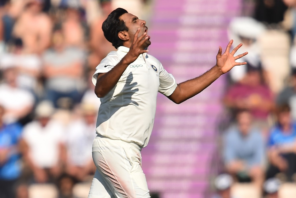 A frustrating day in the field for Ashwin.