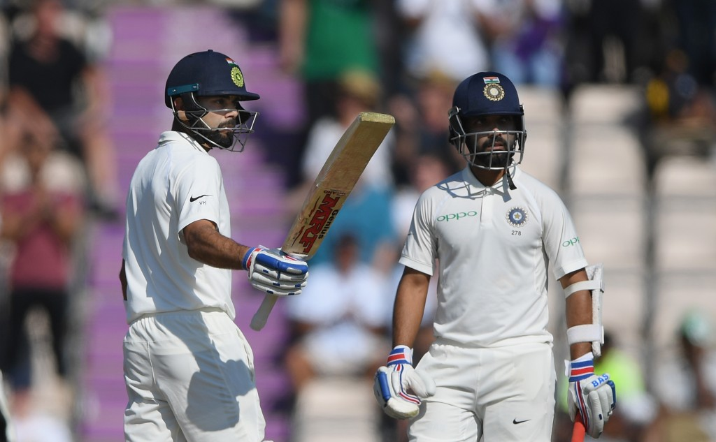 Kohli and Rahane gave India hope with a 101-run partnership.
