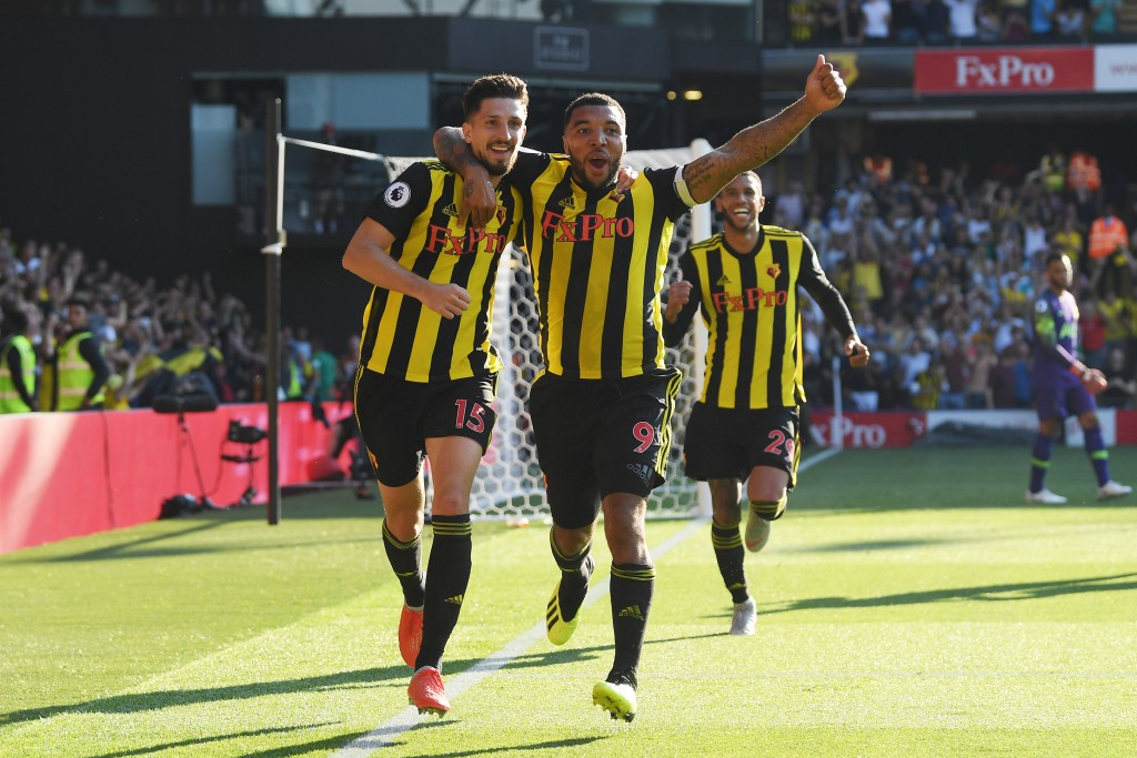 Craig Cathcart and Troy Deeney scored the goals to help Watford beat Tottenham