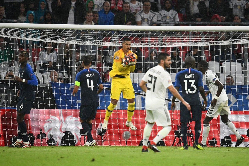 Alphonse Areola impressed in France's 0-0 draw with Germany
