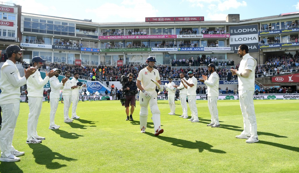 Cook received a guard of honour from India in his final Test.