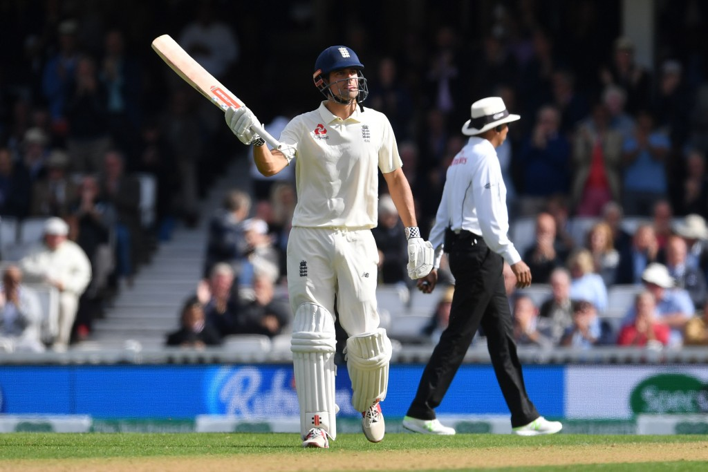 Cook braved through a testing period to register a half-century.
