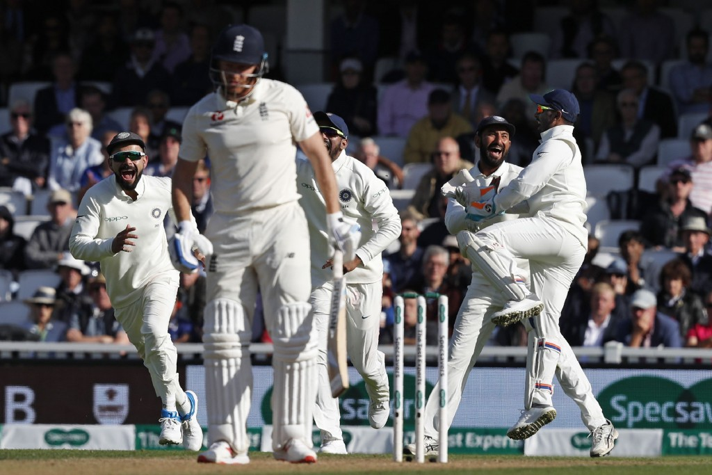 England collapsed in a heap following Cook's dismissal.