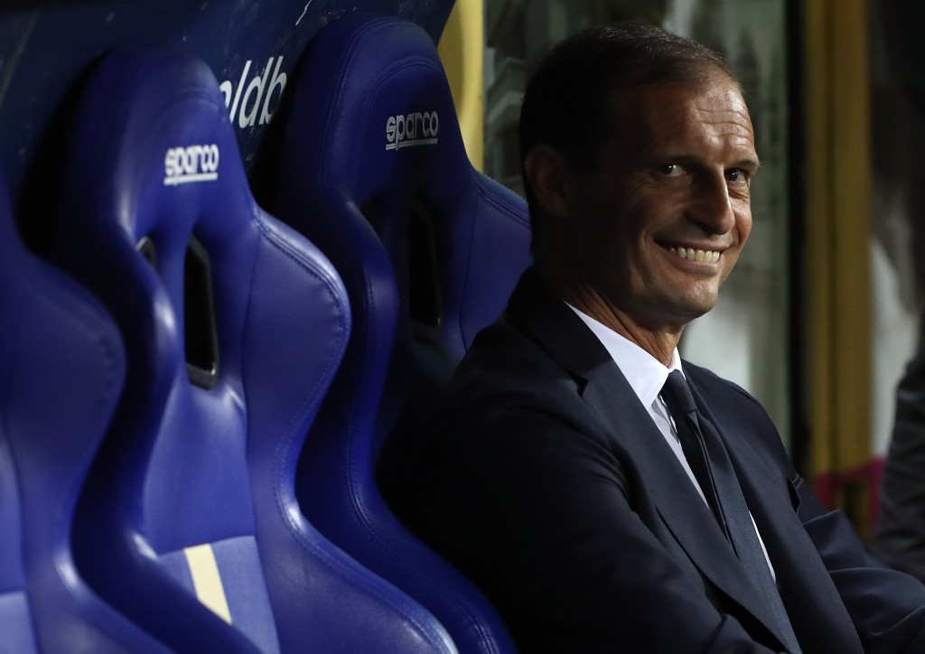 Juventus coach Massimiliano Allegri was present at the meeting in Switzerland.