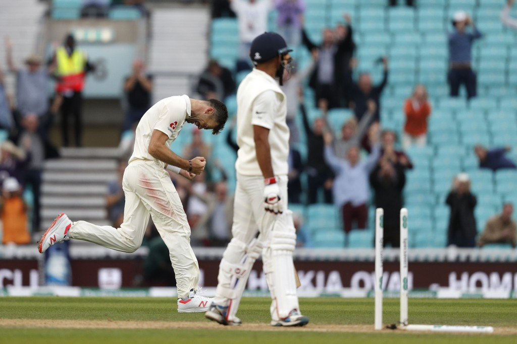 Anderson dismissed Mohammed Shami to move past McGrath.
