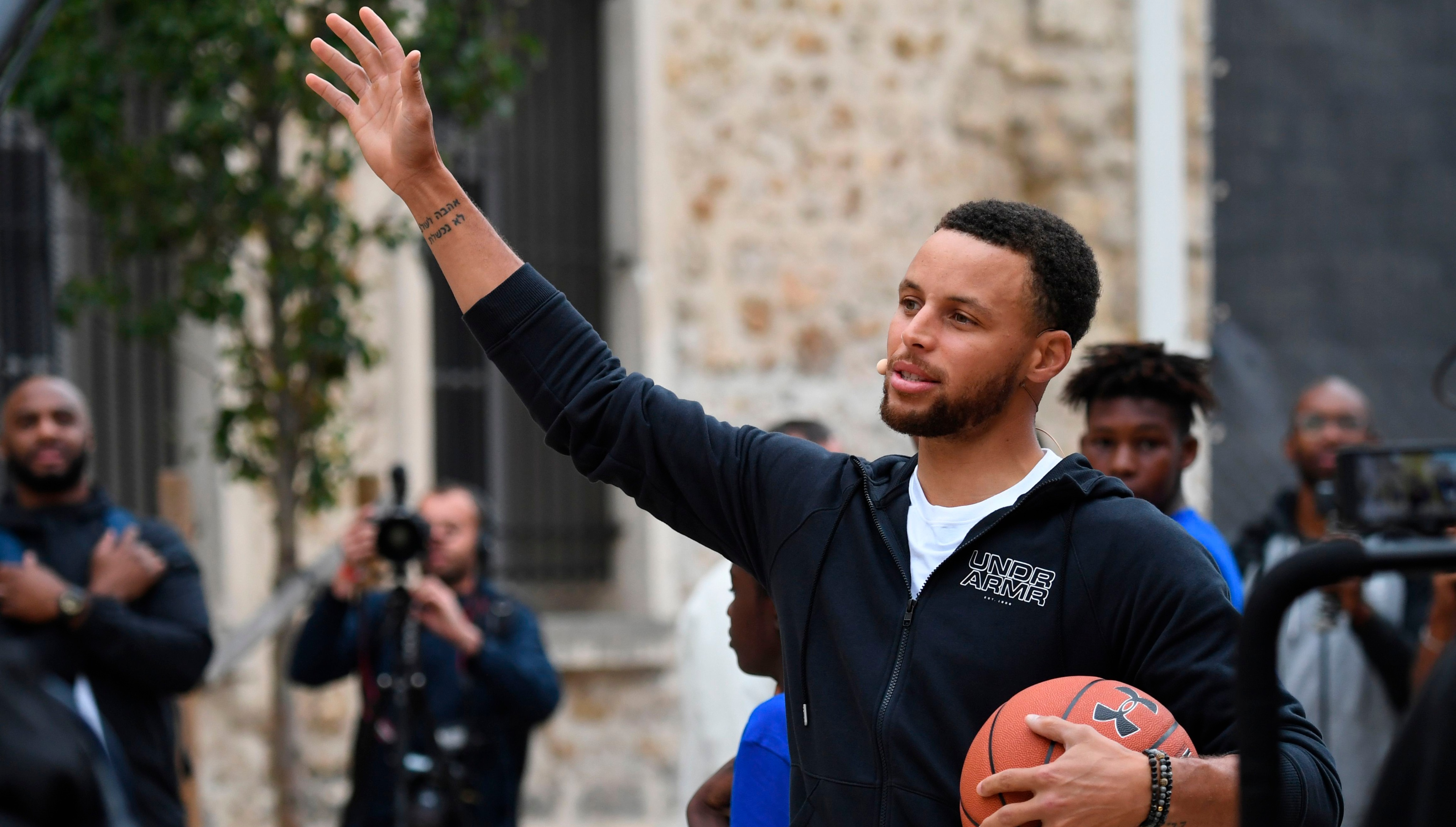 276125d8d8a3 Golden State Warriors star Stephen Curry eager to spread basketball globally