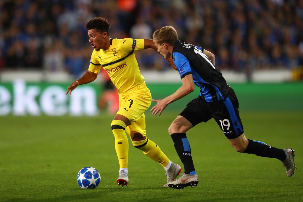 Jadon Sancho has been in fine form for Borussia Dortmund this season.