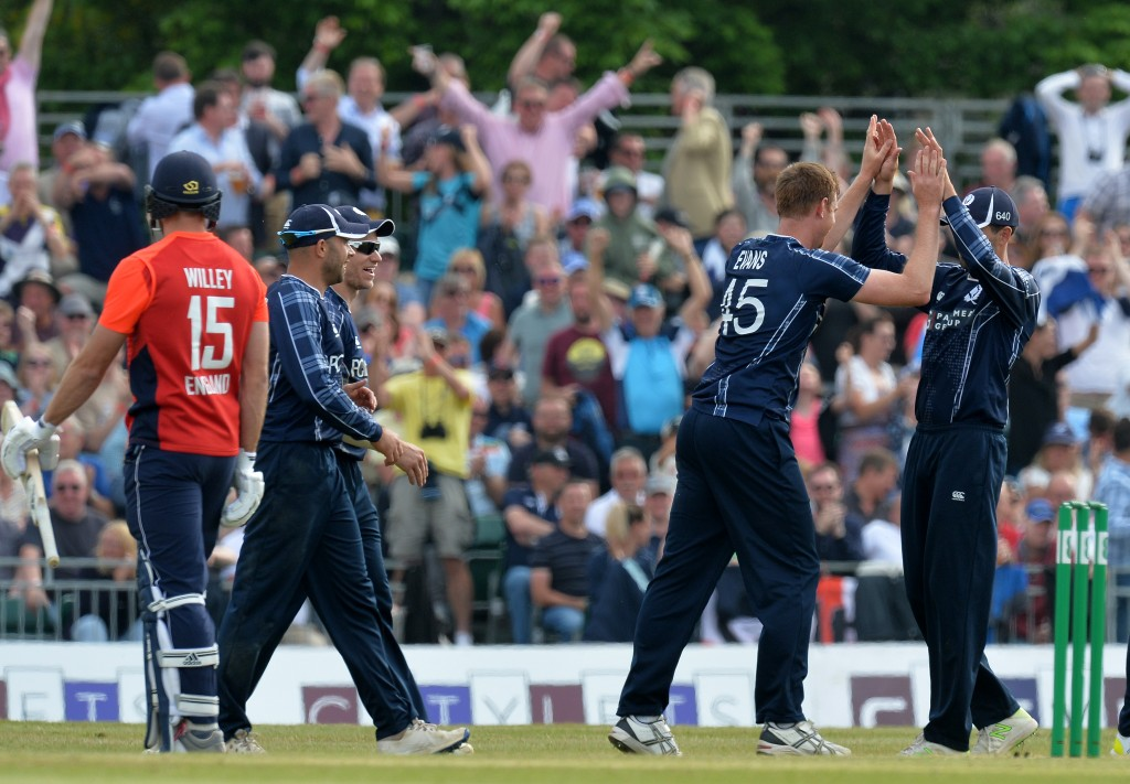 Bradburn's Scotland famously upset England in an ODI this year.