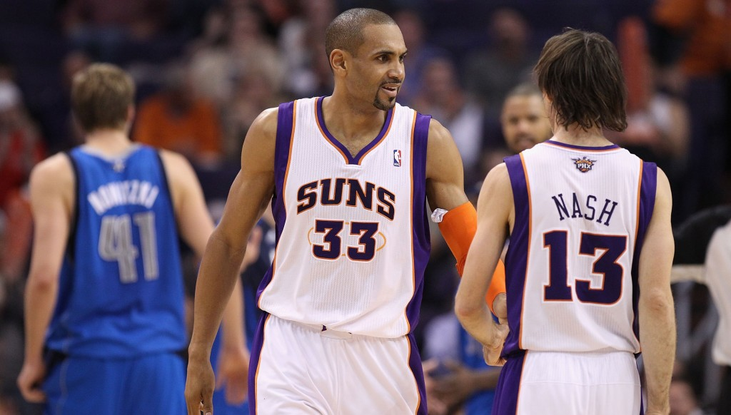 Former Phoenix Suns teammates Grant Hill and Steve Nash were inducted in the same cNBA Hall of Fame class lass.