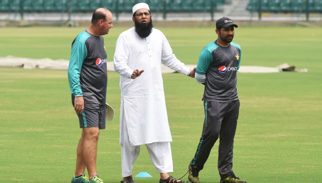 Inzamam (c) has been backed by the PCB over the controversy.