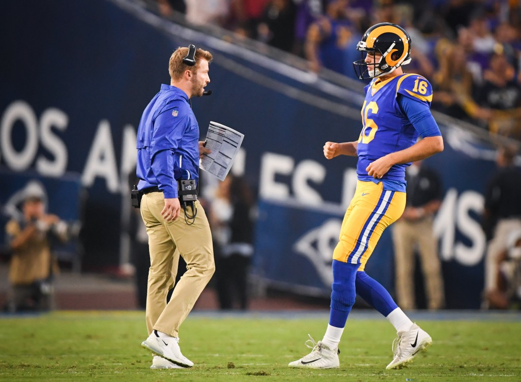 Deadly duo: Sean McVay and Jared Goff.