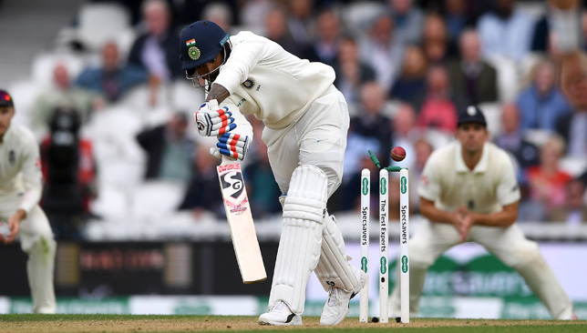 KL Rahul was bowled by Sam Curran.