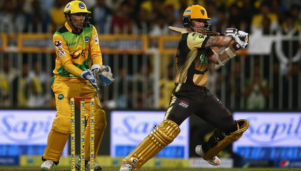 Luke Ronchi batting for the Punjabi Legends in last year's T10 League.