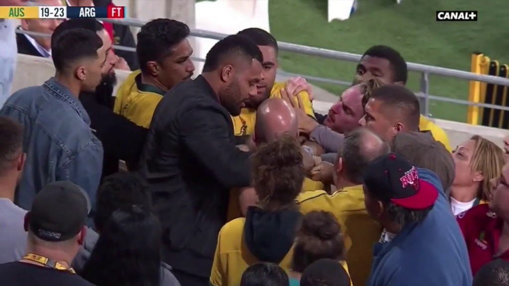 Emotions were running high in the stands