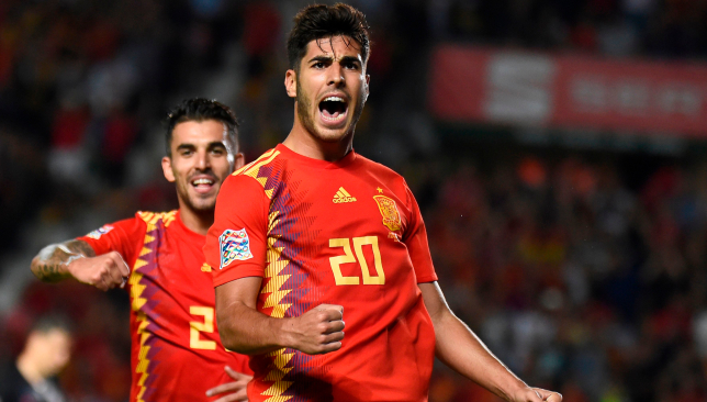 Fiesta: Marco Asensio starred for Spain against Croatia.