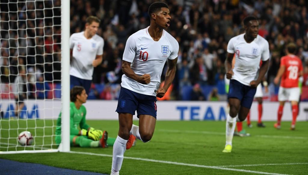 On the Marc: Rashford scored twice on England duty.