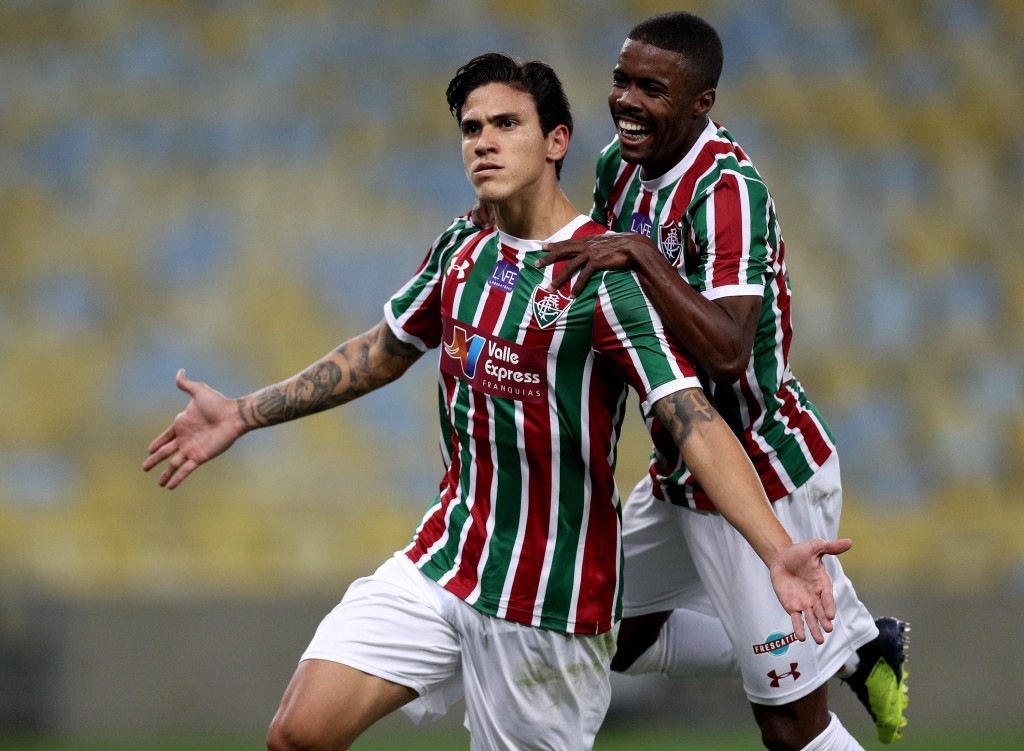 Fluminense's Pedro Guilherme (l) is interesting Real Madrid.