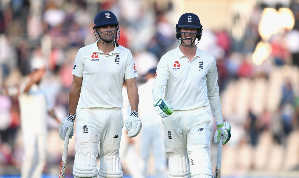 Thanks for nothing - Alastair Cook (r) and Keaton Jennings