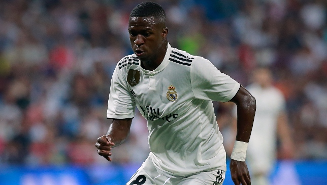 Scored stunning second: Vinicius Junior.