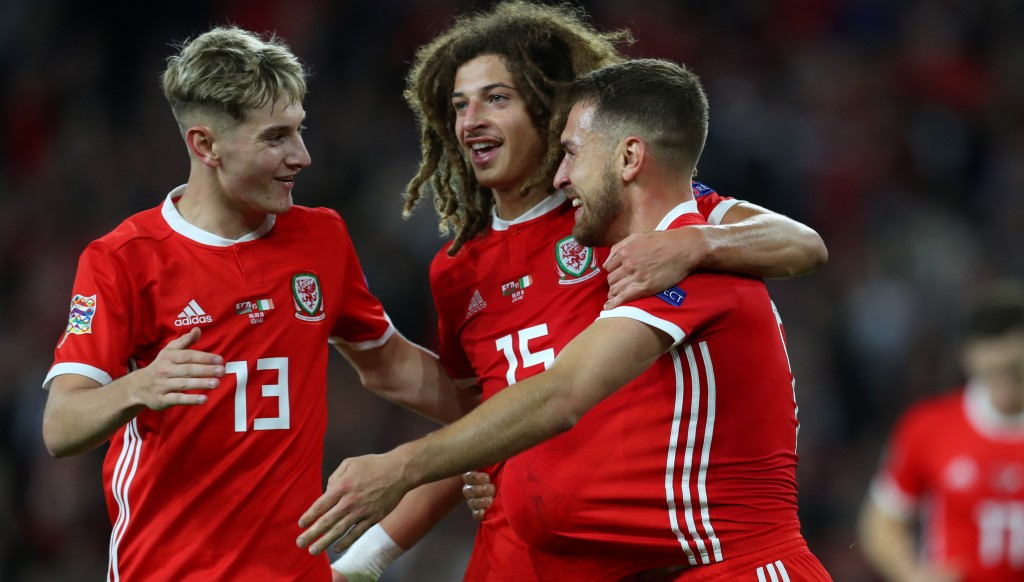 Ethan Ampadu (c) is exciting Welsh fans.