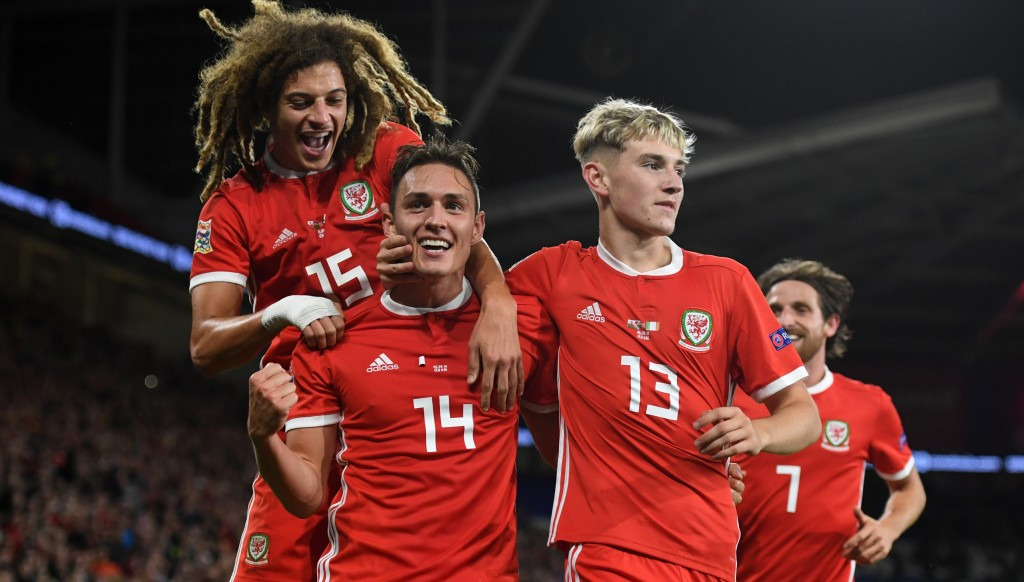 The future's bright (l-r): Ampadu, Connor Roberts and Brooks).