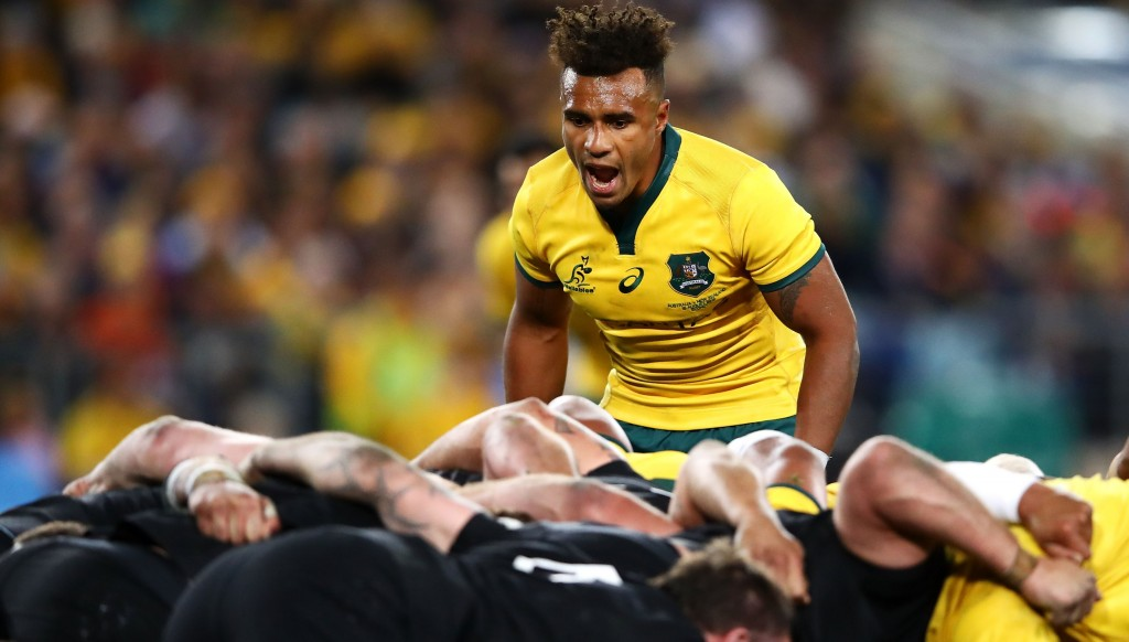 Will Genia barks out the orders to the Wallabies pack
