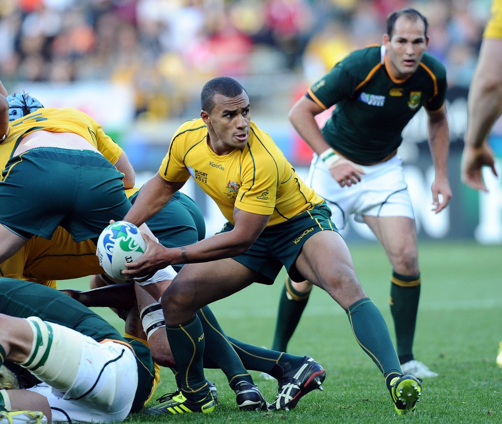 Will with the great Fourie du Preez (on right) in the RWC 2011 quarter-final