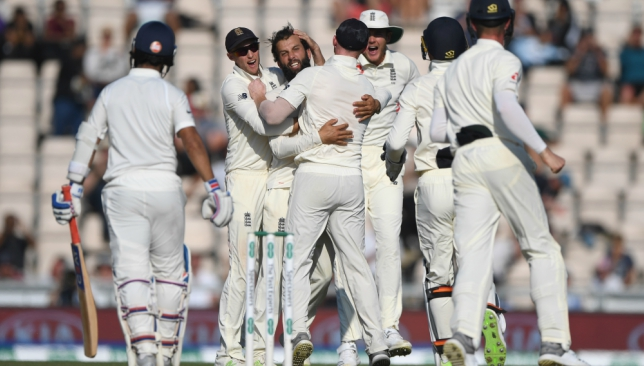 Moeen Ali's nine-wicket haul spun England to a win.