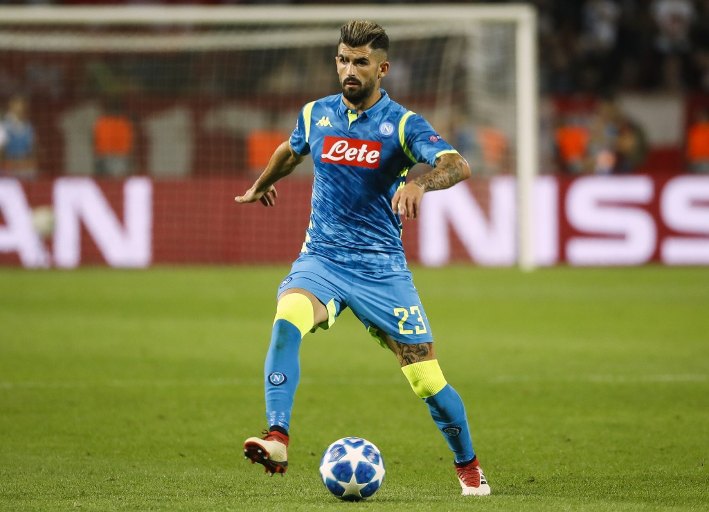 Elseid Hysaj struggled at right-back in Napoli's clash against Juventus.