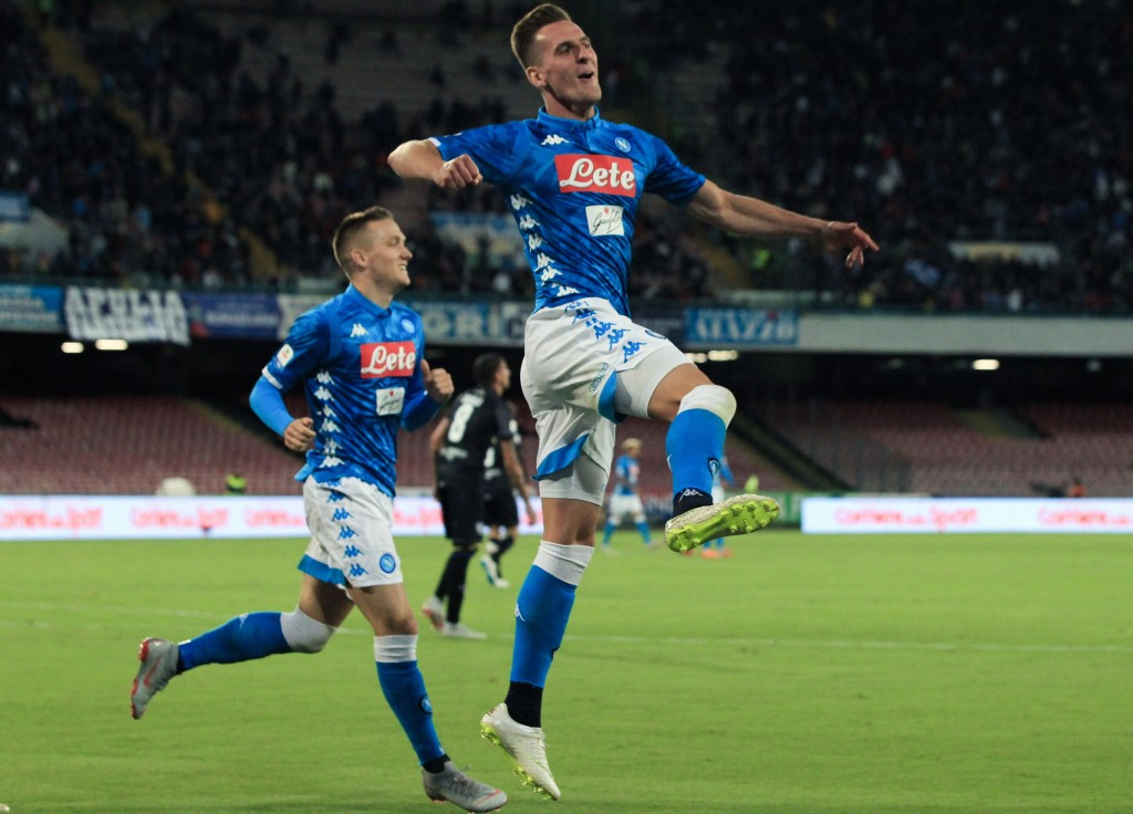 Milik could be Ancelotti's ace up the sleeve.