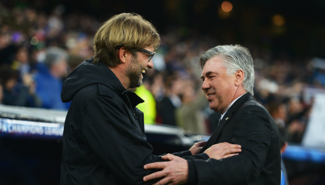 Klopp and Ancelotti also faced off in the group stage a year ago.