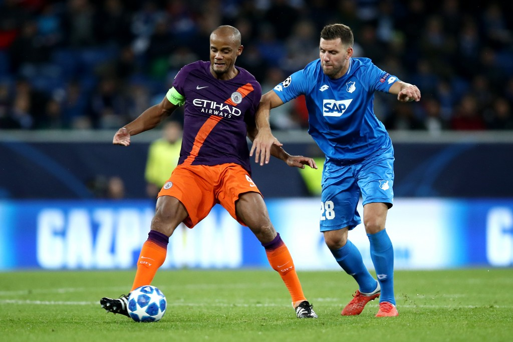 Kompany looked off the pace on Tuesday.