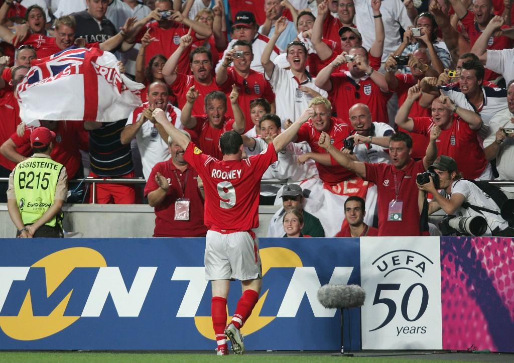Euro 2004 sah Wayne Rooney zu seinem Besten.