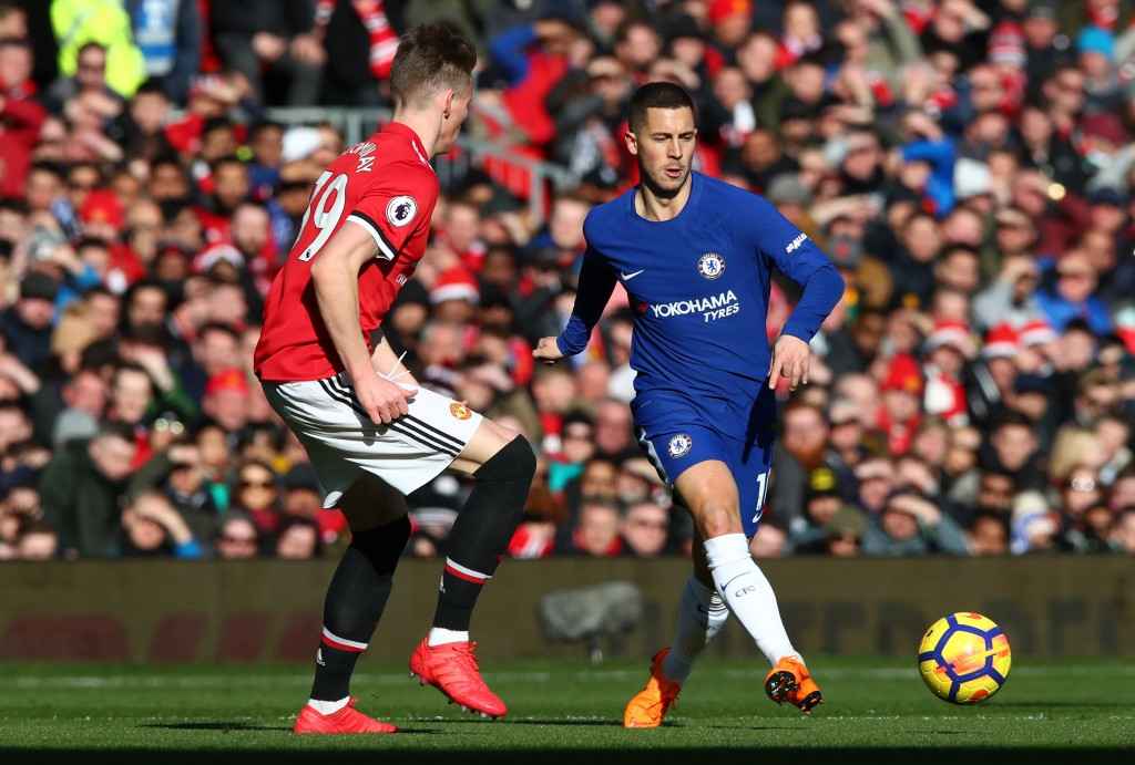 Hazard couldn't tackle the challenge of Scott McTominay in February.