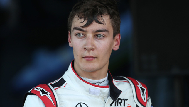 George Russell beat Norris to the Formula 2 title last season.