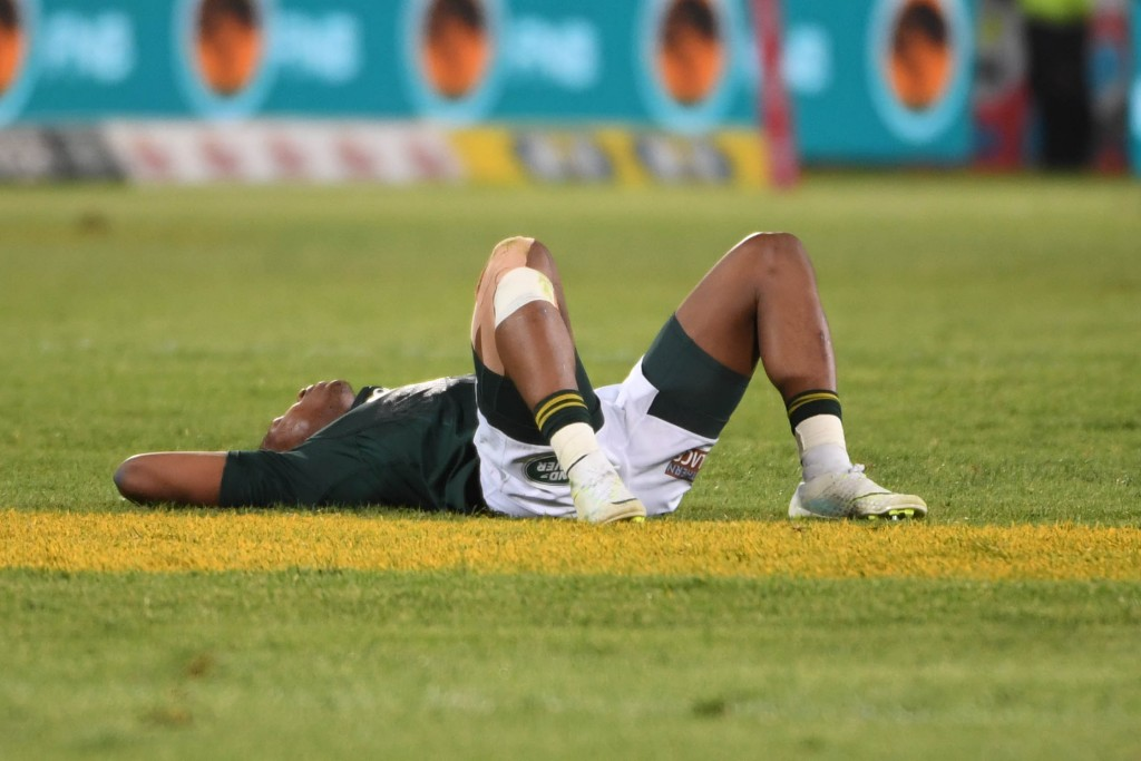 Aphiwe Dyantyi is left stunned after the heart breaking loss