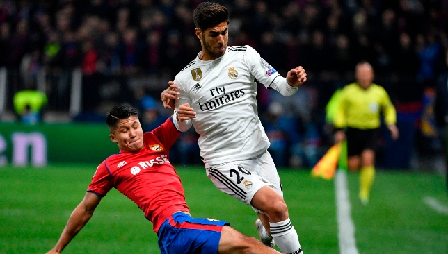 Marco Asensio has registered just one goal all season.
